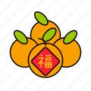 asian, chinese, culture, fruit, mandarin, orange, tangerine icon