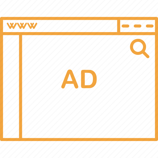 ad, coding, design, html, search, web icon