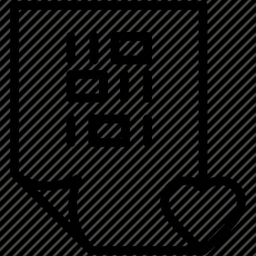 coding, file, heart icon