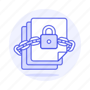 chain, coding, data, digital, document, encrypt, encrypted, files, lock, protection, security, vault icon