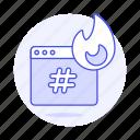 app, burning, coding, cpu, desktop, error, fire, flame, hashtag, hastag, hogging, overheating, window