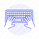 coding, development, hand, keyboard, programming, scripting, software, typing icon