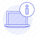 coding, information, laptop, notebook, programming, specs icon