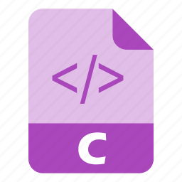 c, coding, extension, file, language, programming, software icon