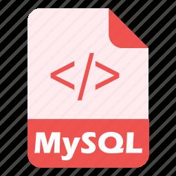 coding, database, extension, file, language, mysql, programming icon