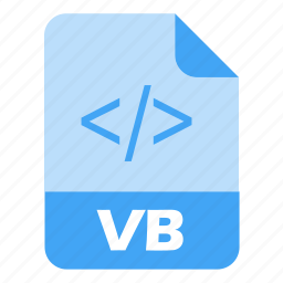 coding, extension, file, language, programming, vb, web icon