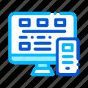 computer, smartphone, system icon icon