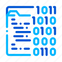 binary, coding, file, system icon icon
