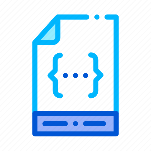 coding, document, file, system icon icon