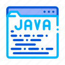 coding, java, language, system icon icon