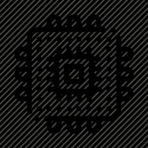 computer, element, processor icon