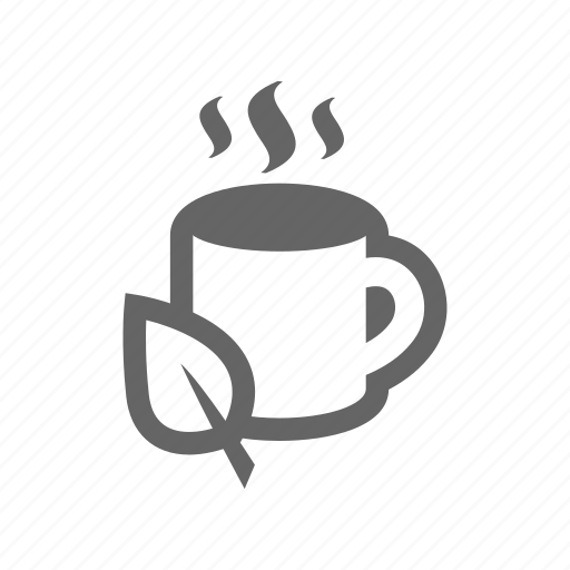 coffee, cup, drinking, drinks, espresso, heat, hot, leaf, mug icon