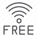 connection, free, internet, mobile, signal, wifi, wireless icon