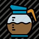 coffee, colored, hot, machine, pot