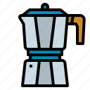 cafe, coffee, moka, pot, shop icon