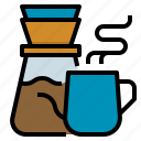 cafe, coffee, drip, dripper, kettle icon