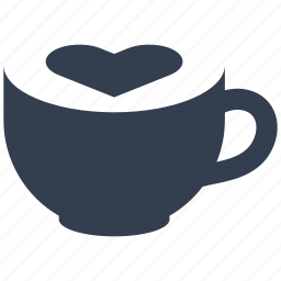 cappuccino, coffee, cup, drink, espresso, flavor, heart, latte, mocha icon