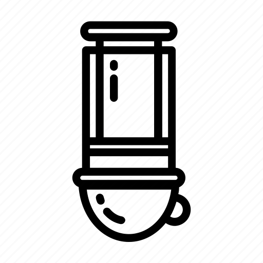 aeropress, breakfast, brewing, coffee, filter, pot, tea icon