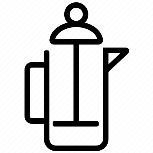 brewing, cafe, coffee, frenchpress icon