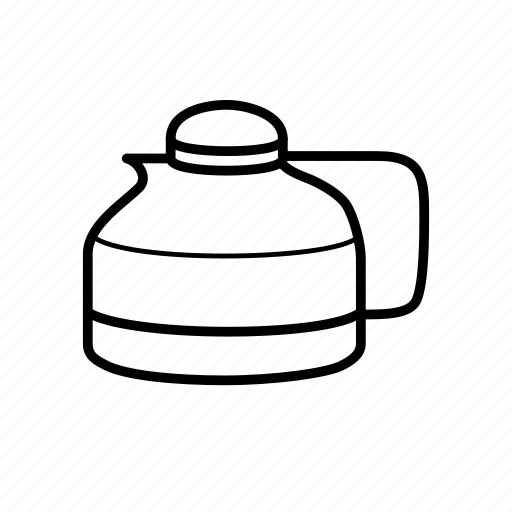coffee, coffee pot, drink, filter coffee, glass, kettle, tea icon
