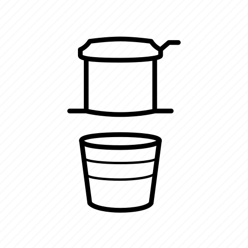 coffee, drink, drip coffee, glass, pour over icon