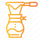 coffee, drink, drip, filter, hot, maker, shop icon