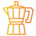 boiling, coffee, hot, kettle, maker, moka, pot icon