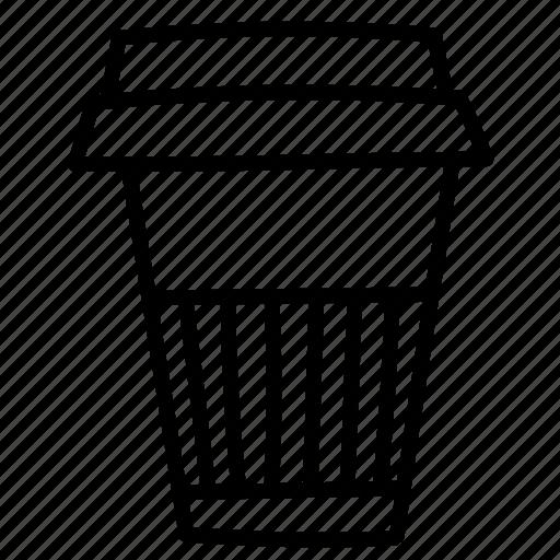 cappuccino, coffee, cup, espresso, hot, morning, paper icon