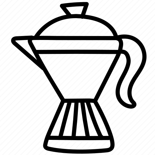 brew, coffee, coffeepot, cook, cookware, jar, pot icon