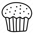 bakery, cupcake, dessert, food, sweet icon