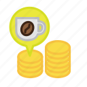 beverage, business, cafe, coffee, cup, drink, money