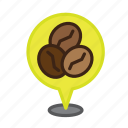 cafe, coffee, espresso, location, map, navigation, pin icon