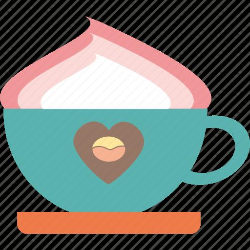 coffee, cream, drink, foam icon