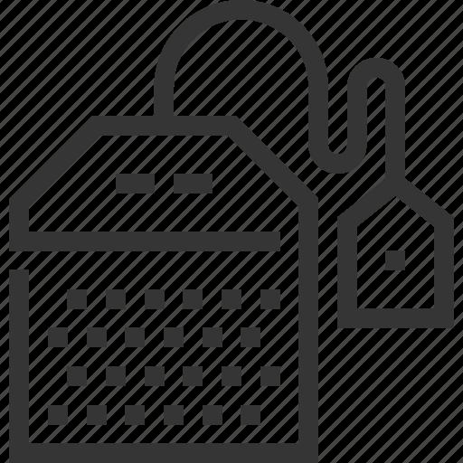 ceylon, early grey, green, herbal, tea bag, triangle, white icon