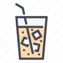 coffee, cold, cube, drink, glass, ice, tea icon