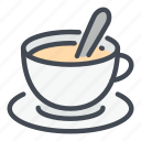 coffee, cup, drink, hot, milk, spoon, tea icon