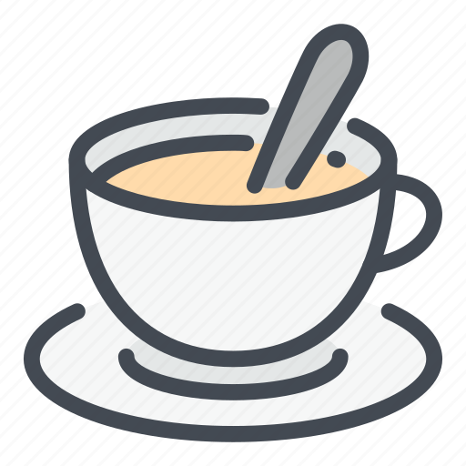 Coffee, cup, drink, hot, milk, spoon, tea icon - Download on Iconfinder
