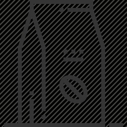 bag, coffee beans, coffee pack, drink, grains, grind, package icon