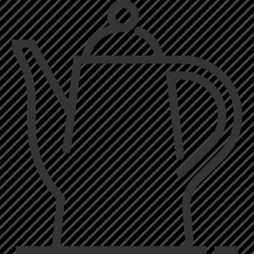 boiling, coffee pot, cook, kettle, kitchen, kitchenware, tea icon