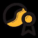 badge, best, coffee, coffee bean icon