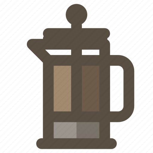 coffee, coffee maker, coffee press, french press icon