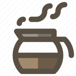coffee carafe, coffee decanter, coffee pot, coffee server icon