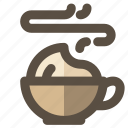 coffee, cup, hot, latte icon