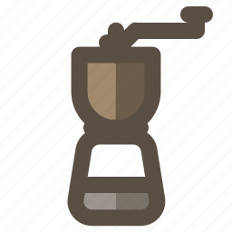 coffee grinder, coffee mill, hand coffee grinder, manual icon