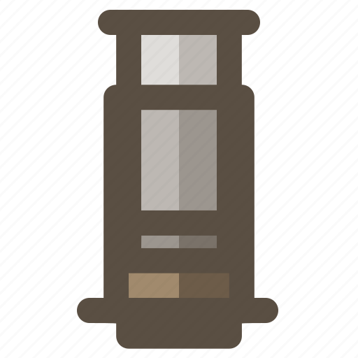 aeropress, coffee, coffee brewer, coffee maker icon
