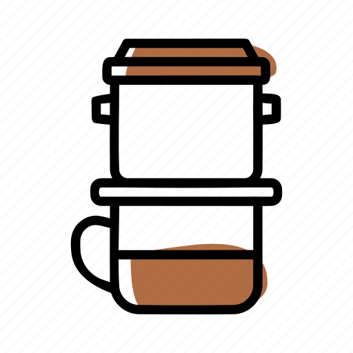 Brewing methods, coffee, manual brew, vietnam drip icon - Download on Iconfinder