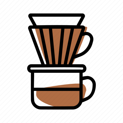 brewing methods, coffee, v60 icon