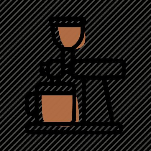 barista, brewing methods, coffee, grinder icon
