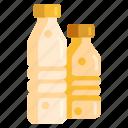 bottles, mineral watter, plastic bottle, water, water bottle icon