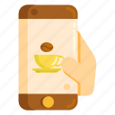 app, coffee, mobile, smartphone icon